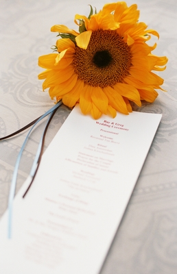 Real Weddings, yellow, Ceremony Programs, Rustic Real Weddings, Summer Weddings, West Coast Real Weddings, Summer Real Weddings, Rustic Weddings