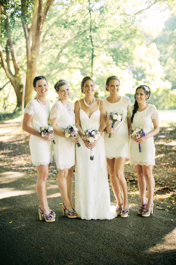 Bridesmaid Dresses, Destinations, Fashion, Real Weddings, Wedding Style, white, ivory, Destination Weddings, Australia, Summer Weddings, Garden Real Weddings, Summer Real Weddings, Garden Weddings