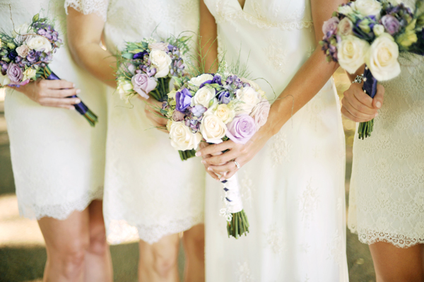 Flowers & Decor, Destinations, Real Weddings, Wedding Style, ivory, purple, Destination Weddings, Australia, Bride Bouquets, Bridesmaid Bouquets, Summer Weddings, Garden Real Weddings, Summer Real Weddings, Garden Weddings, Garden Wedding Flowers & Decor