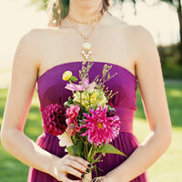 Flowers & Decor, Real Weddings, Wedding Style, purple, Bridesmaid Bouquets, Fall Weddings, Modern Real Weddings, West Coast Real Weddings, Fall Real Weddings, Modern Weddings