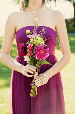 Flowers & Decor, Real Weddings, Wedding Style, purple, Bridesmaid Bouquets, Fall Weddings, Modern Real Weddings, West Coast Real Weddings, Fall Real Weddings, Modern Weddings