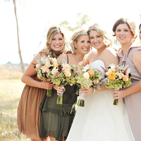 Bridesmaids, Real Weddings, Fall, Rustic, Bridal party, Autumn, Natural, Farm wedding, earth tones