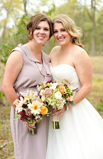 Real Weddings, Fall, Rustic, Bridesmaid, Autumn, Neutral, Earthy, Taupe, Farm wedding