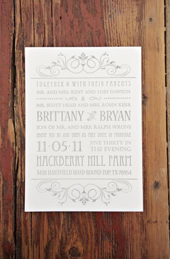 Stationery, Real Weddings, Fall, Rustic, Classic, Invitations, Grey, Autumn, Farm wedding