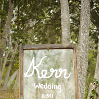 Real Weddings, Fall, Rustic, Sign, Autumn, Mason jar, Farm wedding