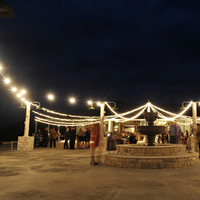 Reception, Real Weddings, Fall, Rustic, Lighting, String lights, Autumn, Farm wedding