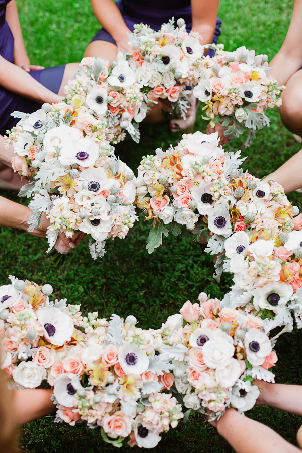 Flowers & Decor, Real Weddings, Wedding Style, Bridesmaid Bouquets, Southern Real Weddings, Summer Weddings, Garden Real Weddings, Summer Real Weddings, Garden Weddings, Southern weddings, Pastel