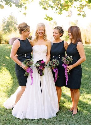 Bridesmaids Dresses, Fashion, Real Weddings, Wedding Style, purple, Fall Weddings, West Coast Real Weddings, Fall Real Weddings, Vineyard Real Weddings, Vineyard Weddings