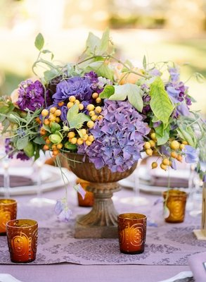 Flowers & Decor, Real Weddings, Wedding Style, purple, Centerpieces, Fall Weddings, West Coast Real Weddings, Fall Real Weddings, Vineyard Real Weddings, Vineyard Weddings, Fall Wedding Flowers & Decor, Vineyard Wedding Flowers & Decor