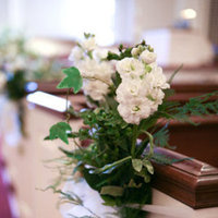 Flowers & Decor, Real Weddings, Wedding Style, white, Ceremony Flowers, Aisle Decor, Modern Real Weddings, Modern Weddings, mid-atlantic real weddings