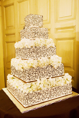 Cakes, Real Weddings, ivory, brown, Square Wedding Cakes, Wedding Cakes, West Coast Real Weddings
