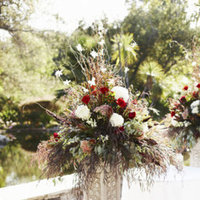 Flowers & Decor, Real Weddings, Wedding Style, red, green, Ceremony Flowers, West Coast Real Weddings, Classic Real Weddings, Glam Real Weddings, Classic Weddings, Glam Weddings, Classic Wedding Flowers & Decor, Glam Wedding Flowers & Decor