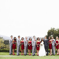 Fashion, Real Weddings, Wedding Style, red, West Coast Real Weddings, Classic Real Weddings, Glam Real Weddings, Classic Weddings, Glam Weddings, Wedding party