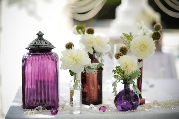 Flowers & Decor, Real Weddings, Wedding Style, Centerpieces, Modern Real Weddings, West Coast Real Weddings, Modern Weddings, Vintage Wedding Flowers & Decor