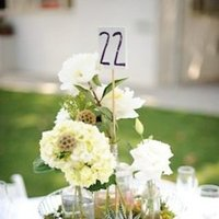 Flowers & Decor, Stationery, Real Weddings, Wedding Style, white, Table Numbers, Modern Real Weddings, West Coast Real Weddings, Modern Weddings, Classic Wedding Flowers & Decor, Vintage Wedding Flowers & Decor