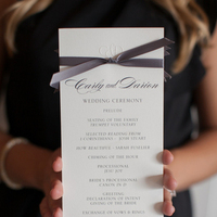 Real Weddings, ivory, gray, Ceremony Programs, Southern Real Weddings, Classic Real Weddings, Classic Weddings, Violet