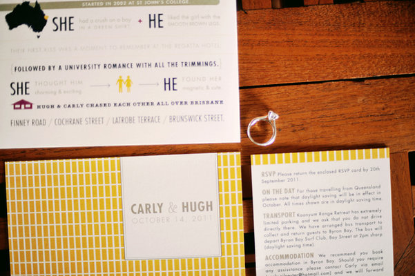 Stationery, Destinations, Real Weddings, Wedding Style, yellow, Australia, Modern Wedding Invitations, Invitations, Spring Weddings, Spring Real Weddings, Vintage Real Weddings, Vintage Weddings