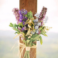 Flowers & Decor, Destinations, Real Weddings, Wedding Style, purple, Australia, Ceremony Flowers, Spring Weddings, Spring Real Weddings, Vintage Real Weddings, Vintage Weddings, Rustic Wedding Flowers & Decor, Spring Wedding Flowers & Decor