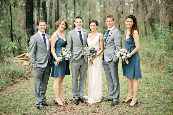 Destinations, Fashion, Real Weddings, Wedding Style, blue, gray, Australia, Spring Weddings, Spring Real Weddings, Vintage Real Weddings, Vintage Weddings, Wedding party, Grey
