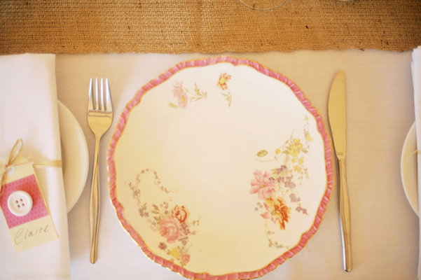 Flowers & Decor, Destinations, Real Weddings, Wedding Style, pink, Australia, Place Settings, Spring Weddings, Spring Real Weddings, Vintage Real Weddings, Vintage Weddings, Vintage Wedding Flowers & Decor, Plates