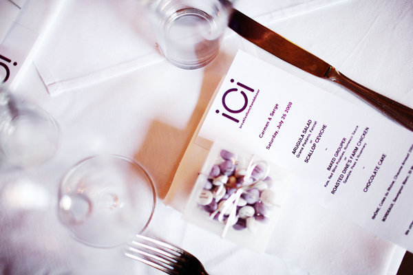 Stationery, Real Weddings, Wedding Style, purple, Menu Cards, Modern Real Weddings, City Real Weddings, City Weddings, Modern Weddings