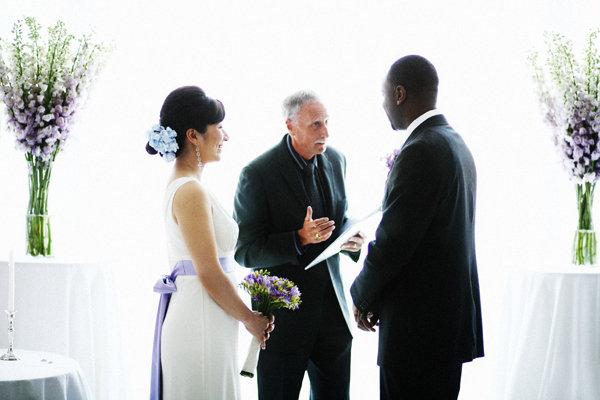 Flowers & Decor, Real Weddings, Wedding Style, purple, Ceremony Flowers, Modern Real Weddings, City Real Weddings, City Weddings, Modern Weddings