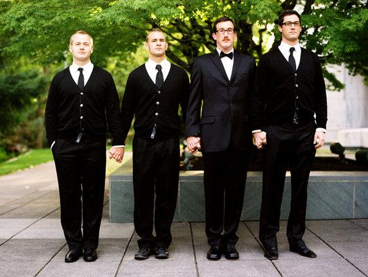 Fashion, Real Weddings, black, Men's Formal Wear, West Coast Real Weddings, Winter Weddings, Classic Real Weddings, Winter Real Weddings, Classic Weddings