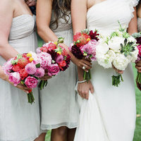 Flowers & Decor, Real Weddings, Wedding Style, pink, Bridesmaid Bouquets, Modern Real Weddings, Summer Weddings, West Coast Real Weddings, Summer Real Weddings, Modern Weddings, Modern Wedding Flowers & Decor, Summer Wedding Flowers & Decor