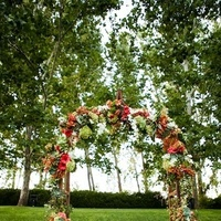 Ceremony, Flowers & Decor, Real Weddings, Vineyard, Summer Weddings, West Coast Real Weddings, Summer Real Weddings, Arch, Bright, Organic, Farm, Whimsical, Vibrant, Orchard, West Coast Weddings