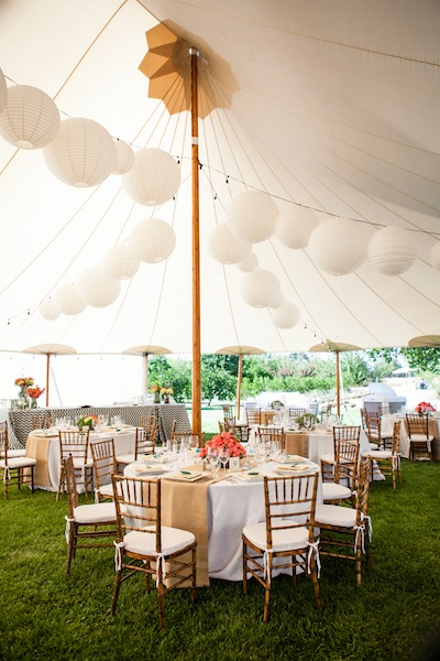Reception, Flowers & Decor, Real Weddings, Vineyard, Summer Weddings, West Coast Real Weddings, Summer Real Weddings, Bright, Tent, Lanterns, Organic, Farm, Whimsical, Vibrant, Orchard, West Coast Weddings
