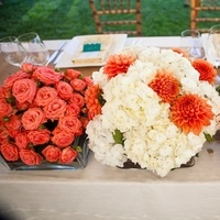 Flowers & Decor, Real Weddings, Wedding Style, orange, pink, Centerpieces, Vineyard, Summer Weddings, West Coast Real Weddings, Summer Real Weddings, Bright, Organic, Succulents, Farm, Whimsical, Vibrant, Orchard, West Coast Weddings