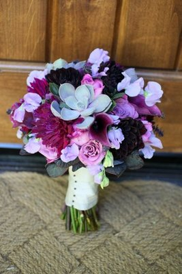 Flowers & Decor, Real Weddings, Wedding Style, purple, Bride Bouquets, West Coast Real Weddings