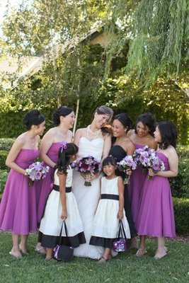 Bridesmaids Dresses, Flower Girl Dresses, Fashion, Real Weddings, Wedding Style, purple, West Coast Real Weddings
