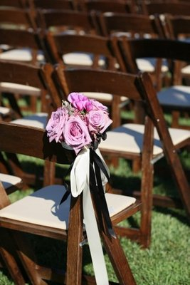 Flowers & Decor, Real Weddings, Wedding Style, pink, purple, Ceremony Flowers, Aisle Decor, West Coast Real Weddings, Rustic Wedding Flowers & Decor