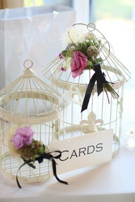 Flowers & Decor, Real Weddings, Wedding Style, West Coast Real Weddings, Vintage Wedding Flowers & Decor, Shabby Chic Wedding Flowers & Decor, bird cages