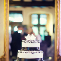 Cakes, Real Weddings, Wedding Style, white, black, Classic Wedding Cakes, Ribbon Wedding Cakes, Round Wedding Cakes, Wedding Cakes, Spring Weddings, Classic Real Weddings, Midwest Real Weddings, Spring Real Weddings, Classic Weddings