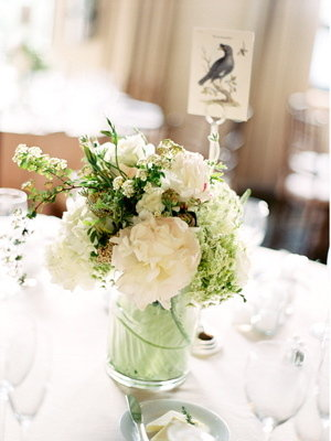 Flowers & Decor, Real Weddings, Wedding Style, ivory, green, Centerpieces, Table Numbers, Classic Real Weddings, Classic Weddings, Classic Wedding Flowers & Decor, Spring Wedding Flowers & Decor, Summer Wedding Flowers & Decor, new york weddings, new york real weddings