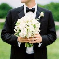 Flowers & Decor, Real Weddings, ivory, black, Bride Bouquets, Classic Real Weddings, Classic Weddings, new york weddings, new york real weddings
