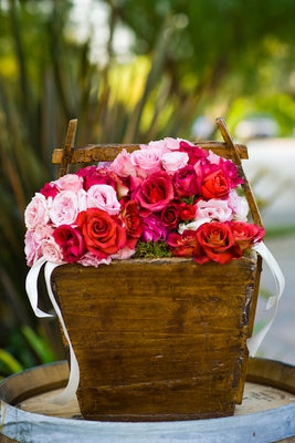 Flowers & Decor, Real Weddings, Wedding Style, pink, red, Summer Weddings, West Coast Real Weddings, Summer Real Weddings, Vineyard Real Weddings, Vineyard Weddings, Garden Wedding Flowers & Decor, Summer Wedding Flowers & Decor, Vineyard Wedding Flowers & Decor