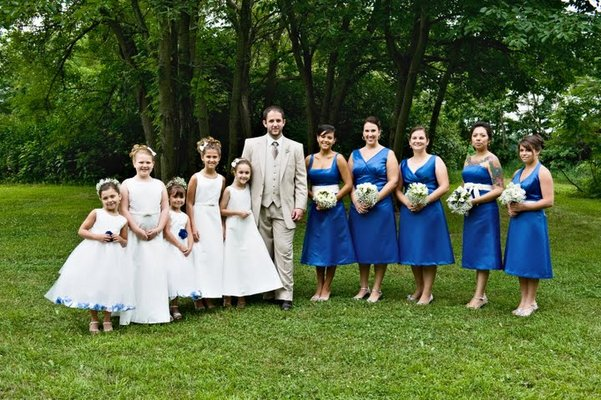 Bridesmaids Dresses, Fashion, Real Weddings, Wedding Style, blue, Summer Weddings, Midwest Real Weddings, Summer Real Weddings