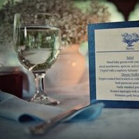 Stationery, Real Weddings, Wedding Style, blue, Menu Cards, Summer Weddings, Midwest Real Weddings, Summer Real Weddings