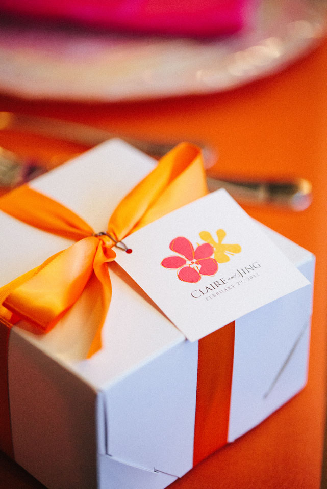 Favors & Gifts, Stationery, Real Weddings, orange, Destination Weddings, Summer Weddings, Summer Real Weddings, Destination Real Wedding, Hawaiian Real Wedding, Hawaiian Weddings, Tropical Weddings, Tropical Real Weddings