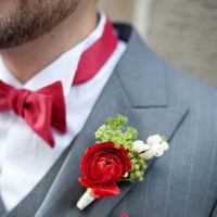 Flowers & Decor, Real Weddings, Wedding Style, red, Boutonnieres, Northeast Real Weddings, Modern Real Weddings, Modern Weddings, Modern Wedding Flowers & Decor