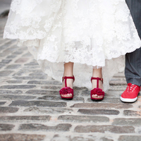Fashion, Real Weddings, Wedding Style, red, Northeast Real Weddings, Modern Real Weddings, Modern Weddings, wedding shoes