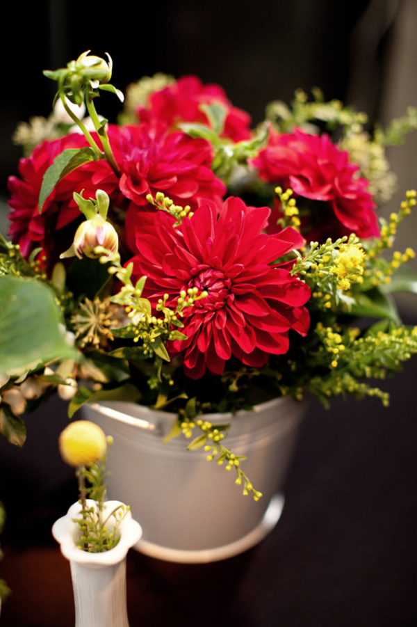 Flowers & Decor, Real Weddings, Wedding Style, red, Centerpieces, Northeast Real Weddings, Modern Real Weddings, Modern Weddings, Modern Wedding Flowers & Decor