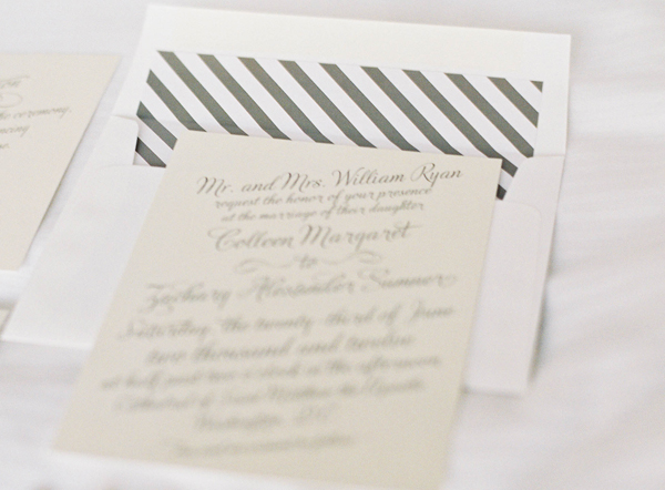 Stationery, Real Weddings, Invitations, Summer Real Weddings, Stripes, Summer wedding, East Coast Real Weddings, East Coast Weddings, Picnic Real Wedding, Picnic Wedding, Sophisticated Real Weddings, Sophisticated Weddings