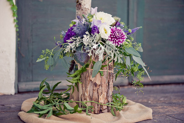 Flowers & Decor, Real Weddings, purple, Ceremony Flowers, Aisle Decor, Centerpieces, Rustic Real Weddings, Summer Weddings, West Coast Real Weddings, Summer Real Weddings, Rustic Weddings, Rustic Wedding Flowers & Decor