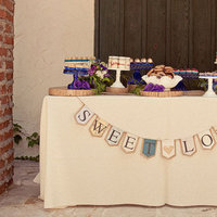 Real Weddings, purple, Other Wedding Desserts, Rustic Real Weddings, Summer Weddings, West Coast Real Weddings, Summer Real Weddings, Rustic Weddings, Rustic Wedding Flowers & Decor