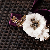 Fashion, Real Weddings, Wedding Style, purple, Accessories, Southern Real Weddings, Classic Real Weddings, Classic Weddings, Sashes, Belts