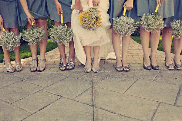 Flowers & Decor, Real Weddings, Wedding Style, white, Bridesmaid Bouquets, Beach Real Weddings, Summer Weddings, West Coast Real Weddings, Summer Real Weddings, Beach Weddings, Summer Wedding Flowers & Decor, Babys breath